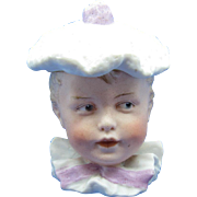 Antique Heubach Boy Head with Hat Bisque Box, RARE - Red Tag Sale Item