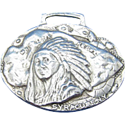 Vintage Sterling Syracuse, NY Indian Ka-Noo-No Karnival 1908 Watch Fob Luggage