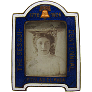 Antique Rare, Enamel 1776-1926 The Sesqui-Centennial Picture Photo Frame, Mini
