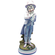 Antique Boy Figurine Holding Flowers, German Bisque