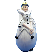 Vintage Pierrot Girl Perfume Scent Bottle, Germany, Part of Pair Available