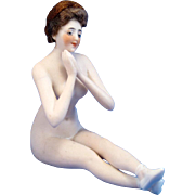 Antique Galluba and Hoffman Bisque Bathing Beauty German Nude, MINT