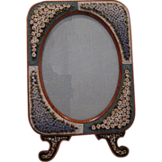 Antique HUGE Micro Mosaic Picture Frame AWESOME Condition! - Red Tag Sale Item