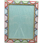 Vintage Micro Mosaic Italian Picture Photo Frame Arch Design