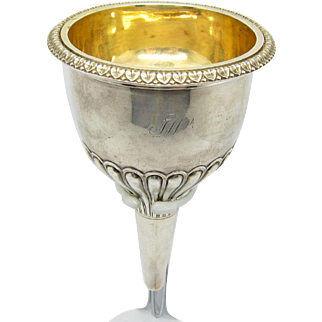 Antique Georgian Sterling Silver Wine Funnel, London C-1807-08