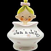 Vintage Pixieware Jam N Jelly Jar Holt Howard, 1950's