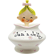 Vintage Pixieware Jam N Jelly Jar Holt Howard, 1950's