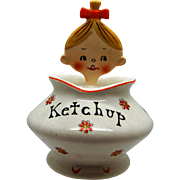 Vintage Pixieware Ketchup Jar Holt Howard, 1950's