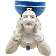 Antique Pierrot Dish, Porcelain, Depose, Soap Dish, Vanity Dish