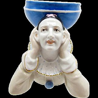 Antique Pierrot Dish, Porcelain, Depose, Soap Dish, Vanity Dish