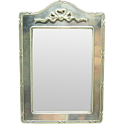 Vintage English Sterling Bow Top Silver Picture Photo Frame, NR C-1970's