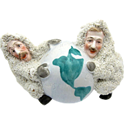 Antique RARE German Perry and Cook And Globe, Snow Baby, Best Snowbaby EVER!