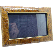 Antique Crocodile Picture Photo Frame