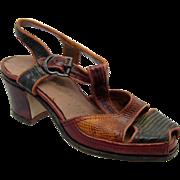 Vintage SALESMAN SAMPLE 1930's-1940's Woman's Shoe, Leather, Super RARE & Cute!