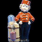 Vintage RARE Bell Hop with Suitcase, Egg Timer, Kitchen Timer