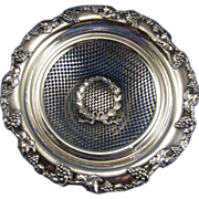 Vintage Silver Plate Dish with Ribbon Design and Grape Motif