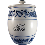 Vintage Germany Blue Onion Tea Canister