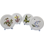 Vintage Porcelain Hand Painted Placecard Place Card, 1893-94, Set of 4