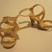 Madame Alexander Cissette Gold Shoes - AS IS