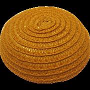Madame Alexander Cissette Original Yellow Straw Hat