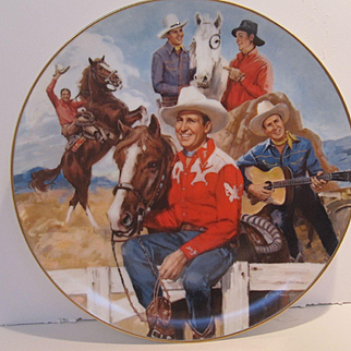 1984 Gene Autry Collector's Plate From Nostalgia Collectibles