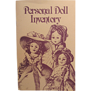 Personal Doll Inventory Collector Book