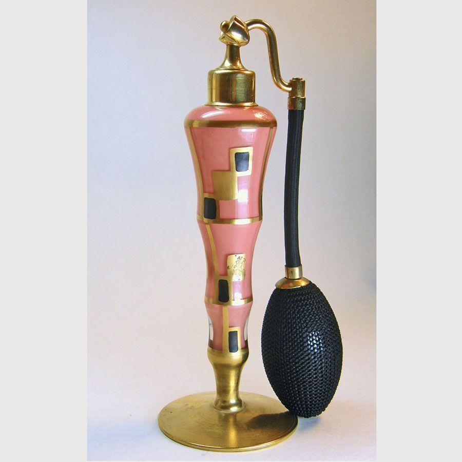 DeVilbiss 1930 Art Deco Coral Perfume Atomizer