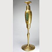 Tall Volupte Perfume Dauber Bottle Green and Gold