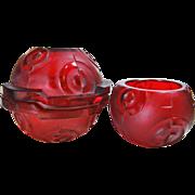 Ingrid Schlevogt Czech Red Glass Perfume Accessories