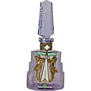 Czech Jeweled Perfume Bottle Amethyst