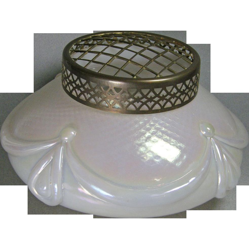 Large czech austrian kralik iridescent art glass vase from for Deco pour vase transparent