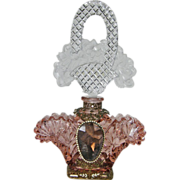 Very Large Schmidt Czech Jeweled Perfume Bottle