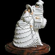 French Argilor Porcelain Art Deco Perfume Lamp