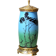 Blue with Dancers DeVilbiss Art Deco Perfume Lamp