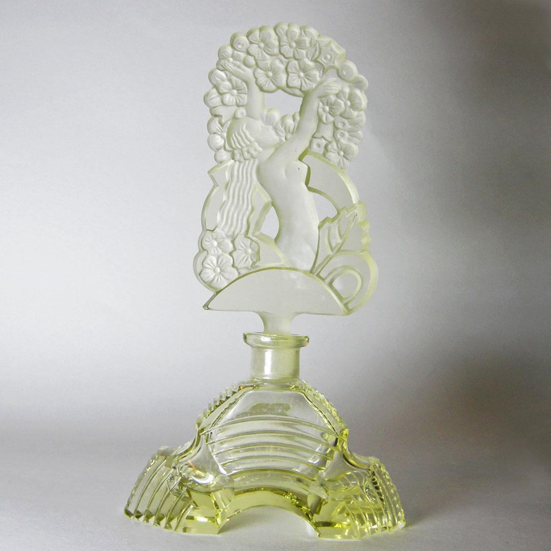 All Yellow Czech Perfume Bottle With Nude Stopper From -2069