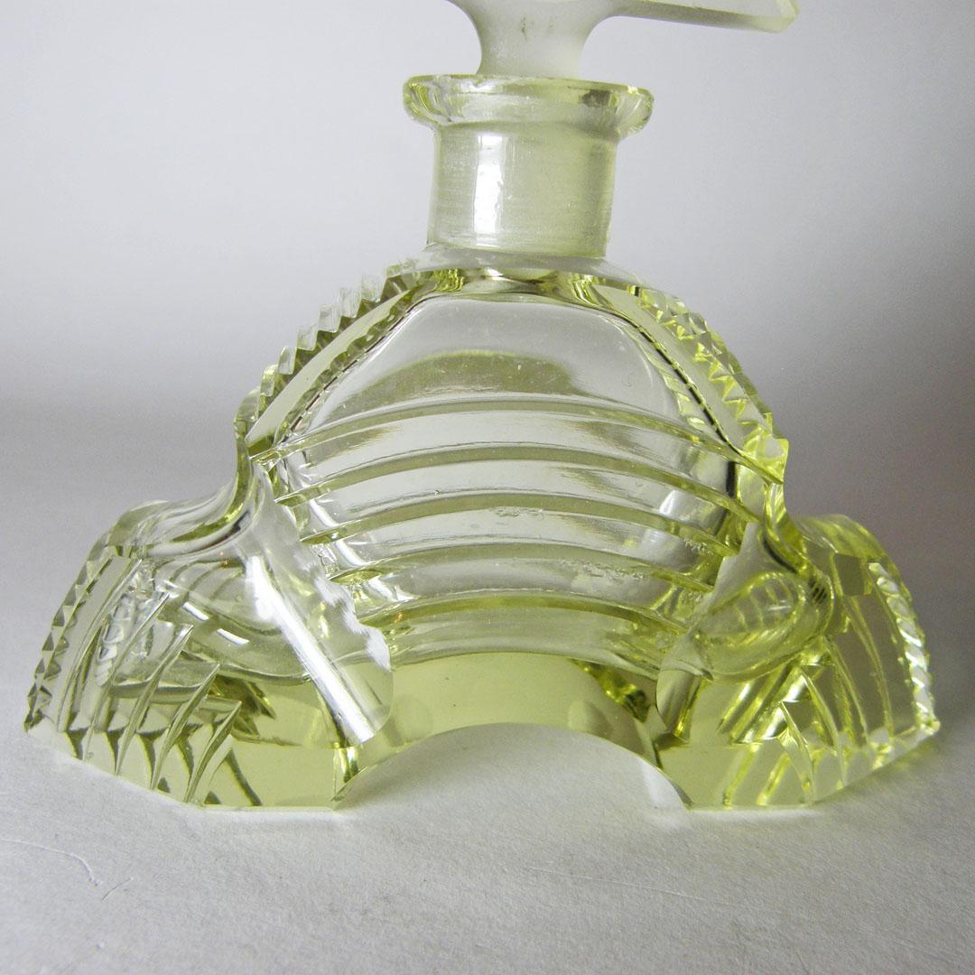 All Yellow Czech Perfume Bottle With Nude Stopper From -1223