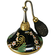 DeVilbiss 1927 Black Enameled ' Hershey Kiss ' Perfume Atomizer