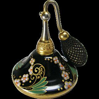 DeVilbiss 1927 Black Enameled ' Hershey Kiss ' Perfume Atomizer