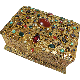 Austrian Jeweled Bronze Box