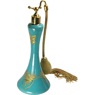 Tall Cambridge Jadite Vant Woud Perfume Atomizer
