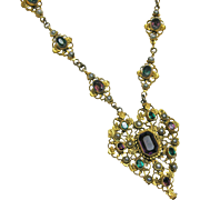 Austro Hungarian Jeweled Necklace c.1900