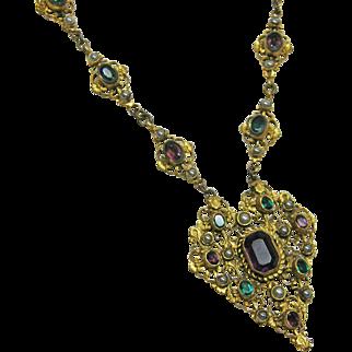 Austro Hungarian Jeweled Necklace c.1900