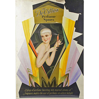 1926 DeVilbiss Perfume Advertising Poster by George Petty