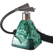 Schlevogt Ingrid Czech Art Deco Malachite Glass Perfume