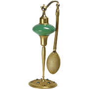 1927 DeVilbiss Green Enameled & Jeweled Fry Glass Perfume Atomizer