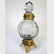 Small Austrian Jeweled Perfume Bottle