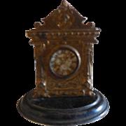 "2"" Doll House Metal Mantle Clock"