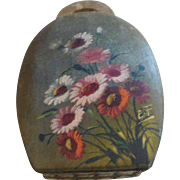 """6"""" Purse Shaped Candy Container Handpainted Flowers"""