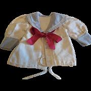 """5 1/2"""" Long Cotton  Sailor Style Blouse"""