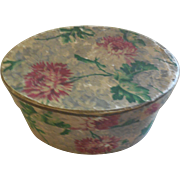 """5"""" Vintage Flower Hat Box with Los Angeles Store Label"""